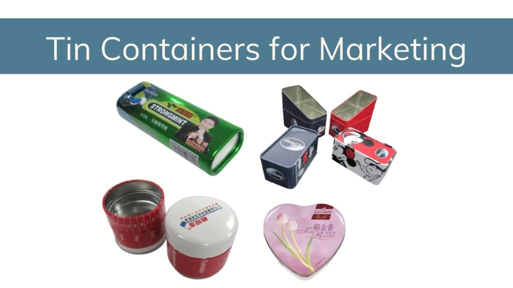 tin containers for marketing