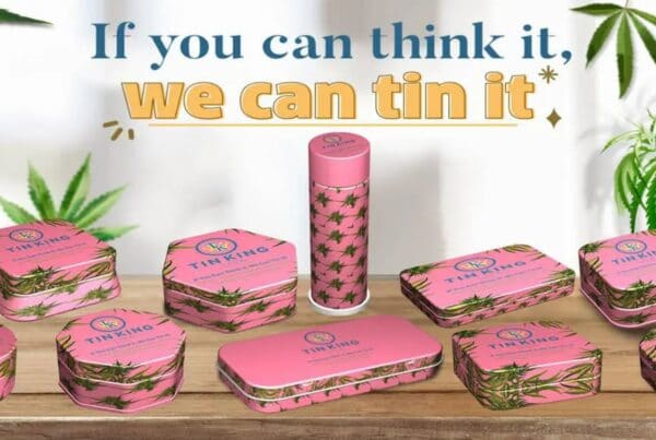 Child Resistant Tin Packaging for Cannabis Edibles